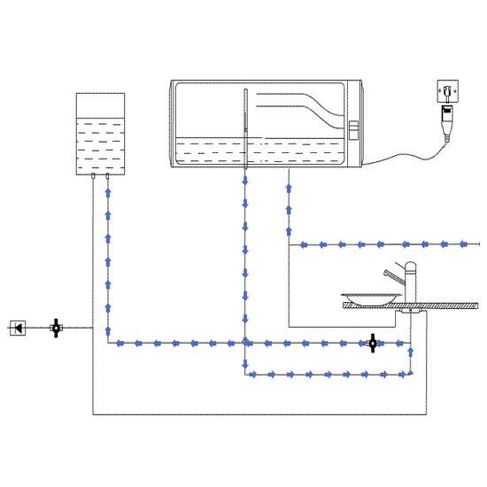 利用自来水余能和压缩空气能回收冷水的节水节能热水器