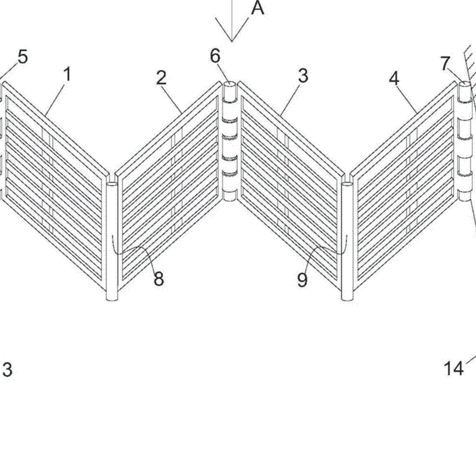 一种 V 形拦污栅结构及包含该结构的拦污栅系统