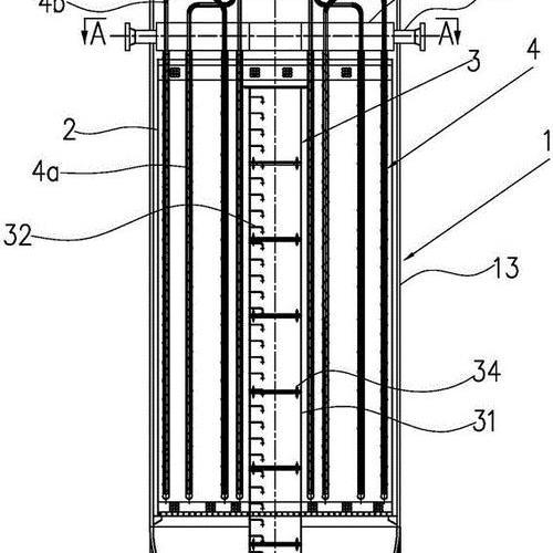 管壳外冷-绝热复合式甲醇合成反应器
