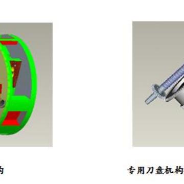 数控大型回转支承深孔镗削专用刀盘机构