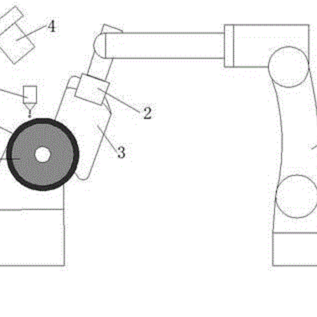 一种加工航空领域金属构件基于 CMP 的机器人磨抛系统