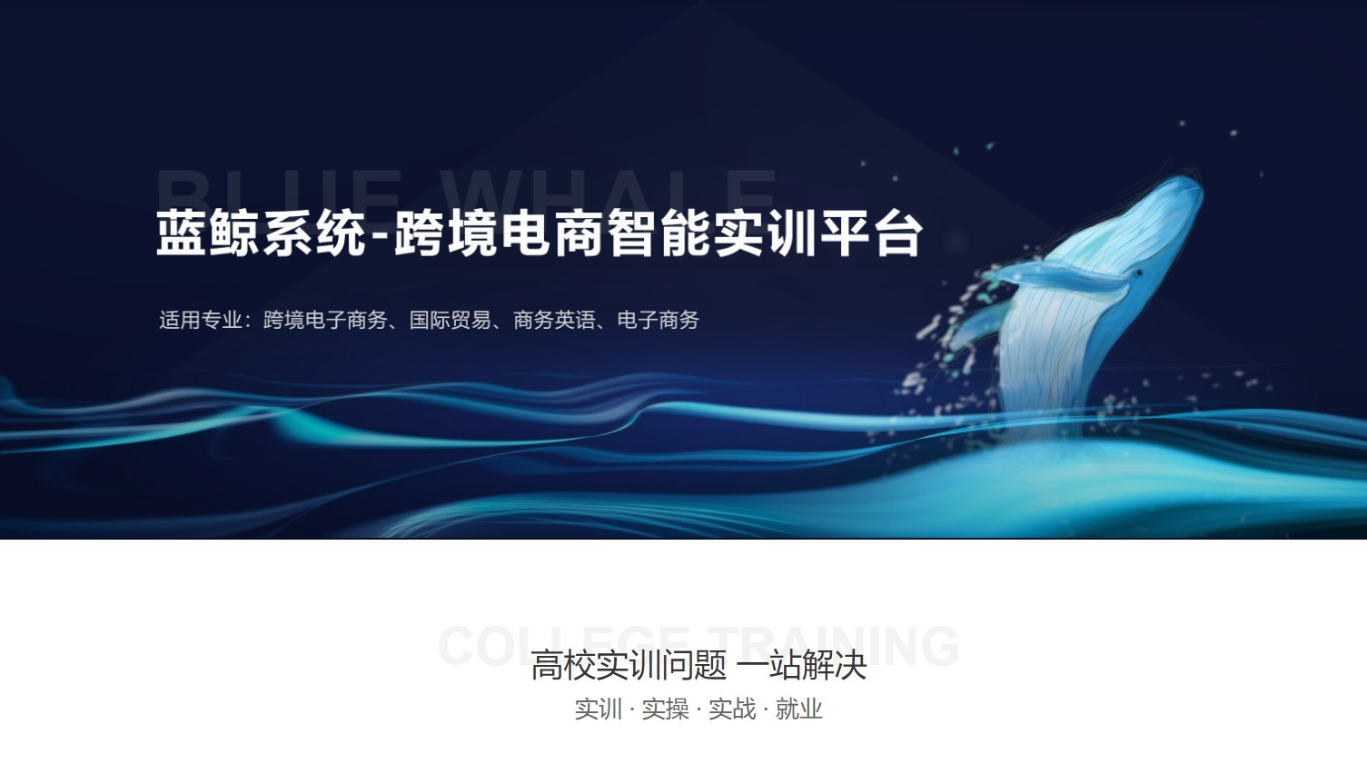 蓝鲸系统-跨境电商智能实训平台
