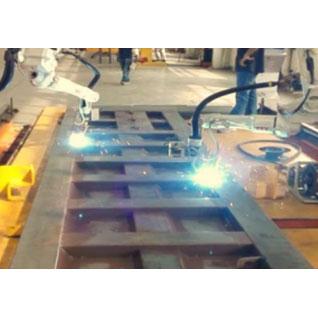 自卸车田字格机器人激光跟踪焊接工作站自卸车自动焊接