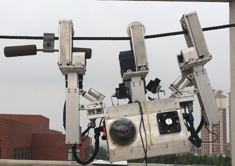 三臂式高压输电线路巡检作业机器人